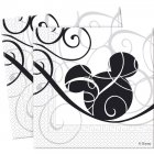 25 Serviettes Mickey Black & white