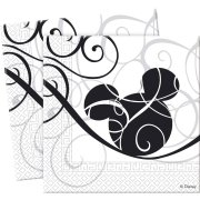 25 Serviettes Mickey Black & white