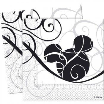 25 Serviettes Mickey Arabesque