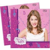 Contient : 1 x 20 Serviettes Violetta