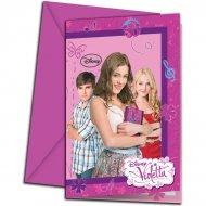 6 Invitations Violetta