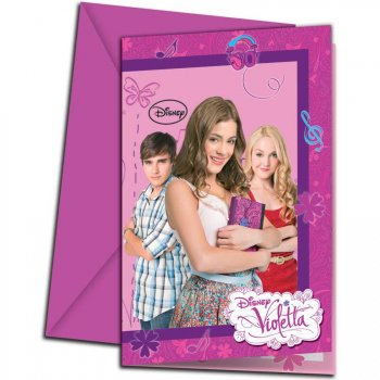 Lot 6 cartes d invitation Violetta