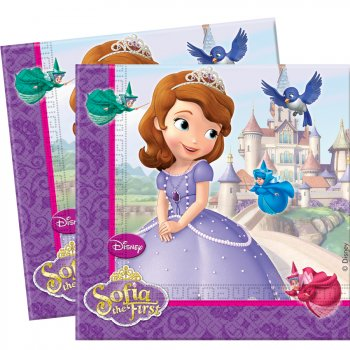 20 Serviettes Princesse Sofia