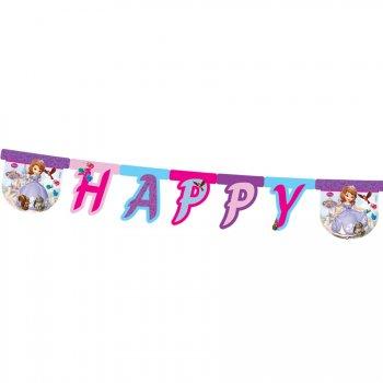 Guirlande lettres Happy Birthday Princesse Sofia