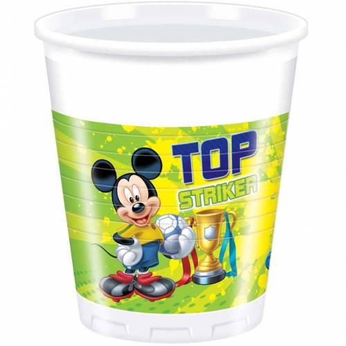 8 Gobelets Mickey Goal