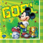 20 Serviettes Mickey Goal