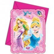 6 Invitations Princesses & Cie