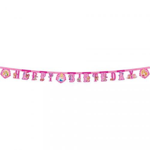 Guirlande lettres Happy Birthday Princesses & Cie