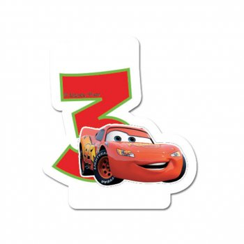 Bougie 3 ans Cars