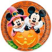 8 Assiettes Mickey et Minnie Halloween