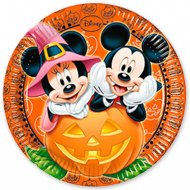 8 Assiettes Mickey et Minnie Halloween