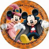8 Petites assiettes Mickey et Minnie Halloween