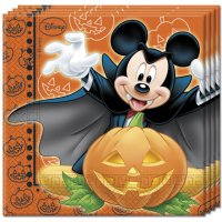 Contient : 1 x 20 Serviettes Mickey et Minnie Halloween
