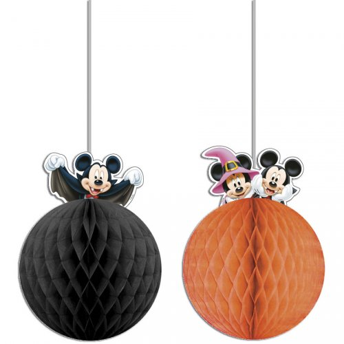 2 Boules déco Mickey et Minnie Halloween