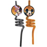 2 Pailles Mickey Halloween