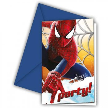 6 Invitations Amazing Spiderman 2