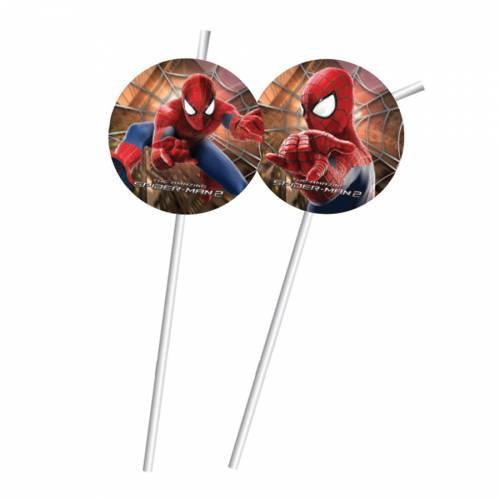 6 Pailles Amazing Spiderman 2