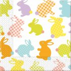 20 Serviettes Lapin Pop