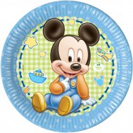 8 Assiettes Mickey Baby