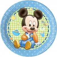 Contient : 1 x 8 Assiettes Mickey Baby