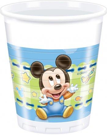 8 Gobelets Mickey Baby