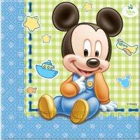 Contient : 1 x 20 Serviettes Mickey Baby