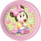 8 Assiettes Minnie Baby