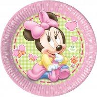 Contient : 1 x 8 Assiettes Minnie Baby
