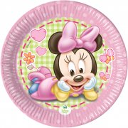 8 Petites assiettes Minnie Baby