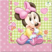 Contient : 1 x 20 Serviettes Minnie Baby