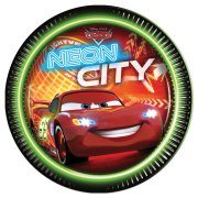 8 Assiettes Cars N�on City