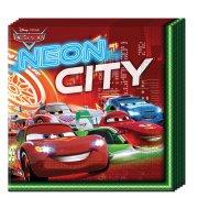 20 Serviettes Cars N�on City
