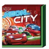 20 Serviettes Cars Néon City
