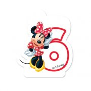 Bougie Minnie Chiffre 6