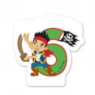 Bougie Jake le pirate Chiffre 6