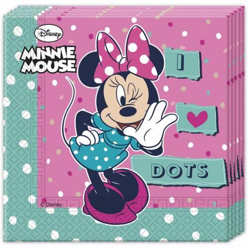 20 Serviettes Espiègle Minnie