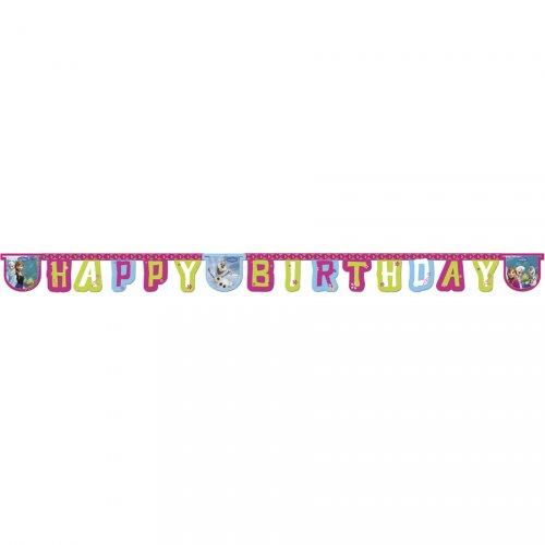 Guirlande lettres Happy Birthday Reine des Neiges