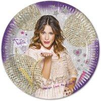 Contient : 1 x 8 Assiettes Violetta Passion