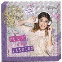 Contient : 1 x 20 Serviettes Violetta Passion
