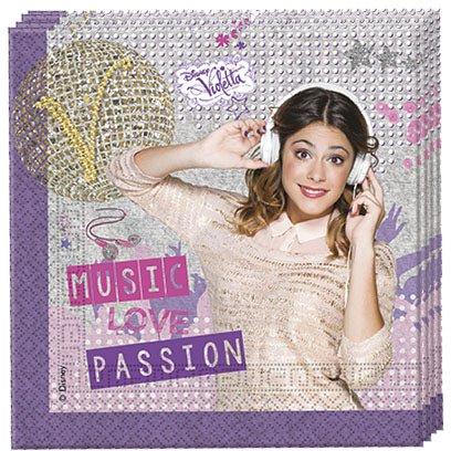 20 Serviettes Violetta Passion