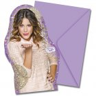6 Invitations Violetta Passion