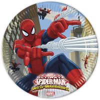 Contient : 1 x 8 Assiettes Spiderman Web-Warriors