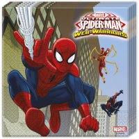 Contient : 1 x 20 Serviettes Spider-Man Web-Warriors