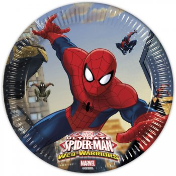 8 Petites Assiettes Spider-Man Web-Warriors