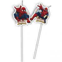 Contient : 1 x 6 Pailles Spider-Man Web-Warriors
