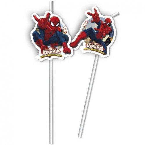 6 Pailles Spider-Man Web-Warriors