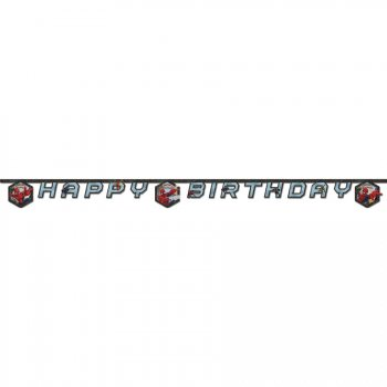 Guirlande lettres Happy Birthday Spider-Man Web-Warriors
