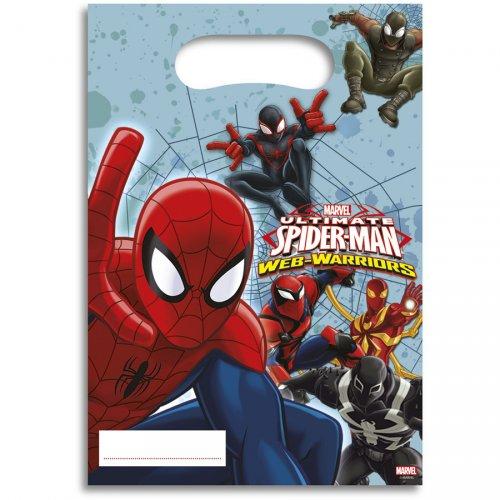 6 Pochettes à Cadeaux Spider-Man Web-Warriors
