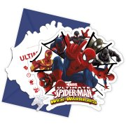 6 Invitations Spider-Man Web-Warriors