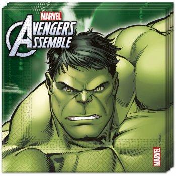 20 Serviettes Avengers Rassemblement